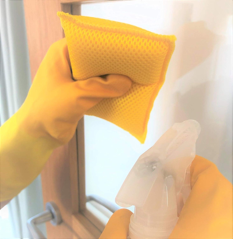 Pezzi Confezione da 3 Addis 518485 LQOC-Spugna per Pulizia Super Pulita 100/% Microfibra Riutilizzabile AntiGraffio Resistente Colore: Rosa