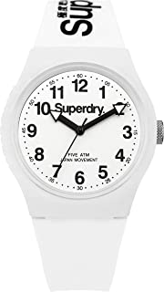 Superdry Urban Men's White Dial Silicone Band Watch - T SDWSYG164WW