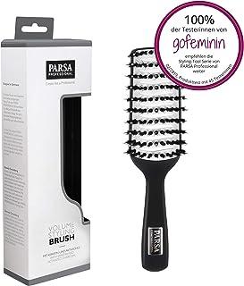 Parsa Volume Styling Brush 400-2 – Cepillo para el pelo para un máximo volumen, cepillo de cerámica ideal para secador, cepillo antiestático, de cerdas naturales con queratina y carbón activo