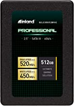 "Inland Professional 512GB SSD 3D TLC NAND SATA III 6Gb/s 2.5"" 7mm Internal Solid State Drive (512GB)"