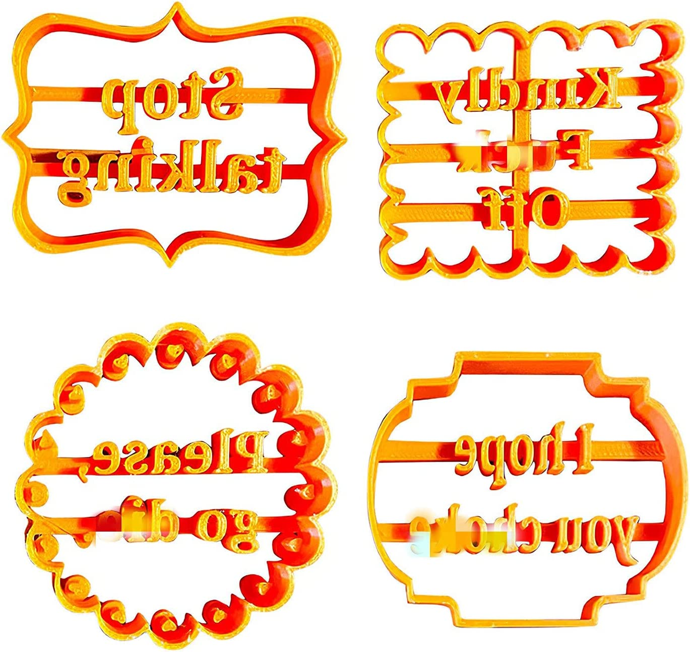 UWEL 4Pcs Set Cookie Molds with Biscuit Plastic Cut Shipping included Wishes Inexpensive Good