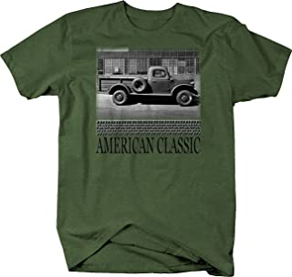 Retro Classic Hotrod Power Wagon Pickup Steel Worktruck Graphic T Shirt for Men