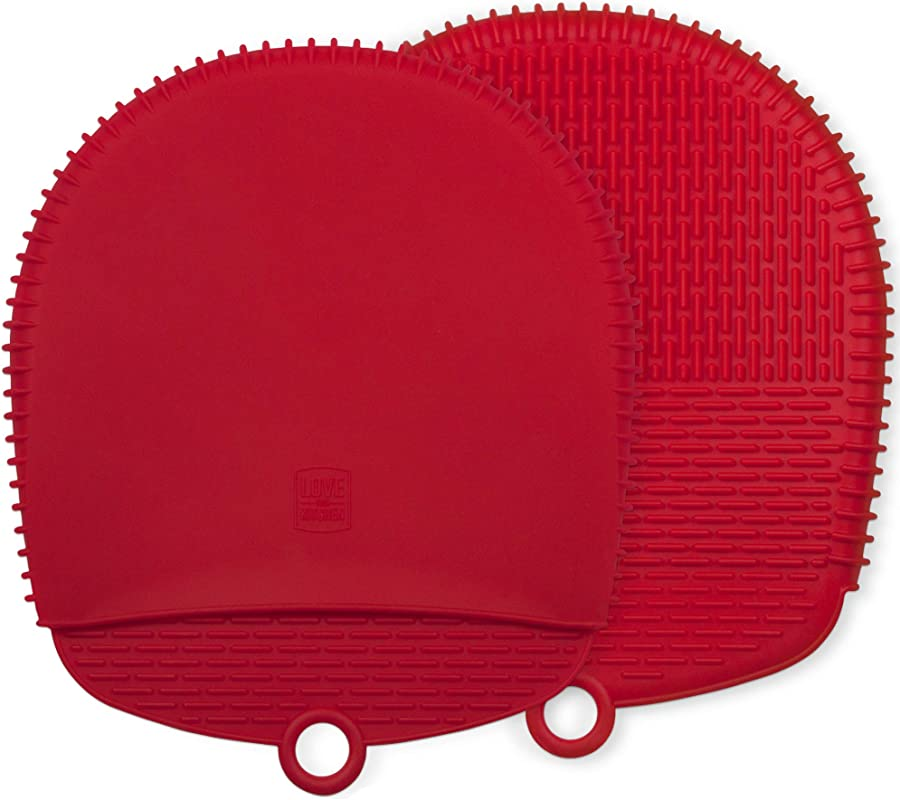 The Ultimate Pot Holders Oven Mitts 100 Silicone Mitt Is Healthier Than Cotton Easier To Clean Won T Grow Mold Or Bacteria Patented Design Makes It Safe Non Slip Flexible Coral Red 1 Pair