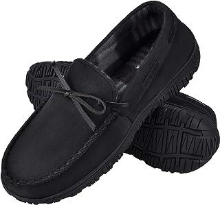 شباشب رجالي من متجر Harebell بدون كعب من إسفنج الذاكرة حذاء منزلي سهل الارتداء Moccains للرجال