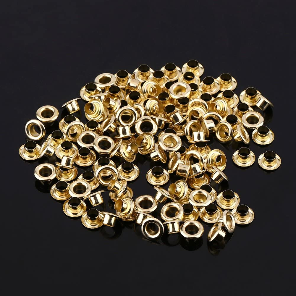 Gold 100 st/ücke 1//4 Zoll Metall/ösen /Ösen T/ülle Tool Kits f/ür Kleidung Lederhandwerk Karte Dekoration Schuhe Leinwand DIY Projekt