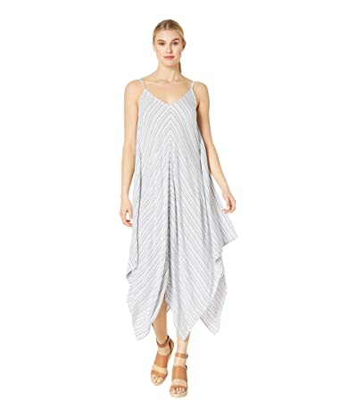 Tommy Bahama Yarn-Dye Stripe Scarf Dress (White/Mare Navy) Women