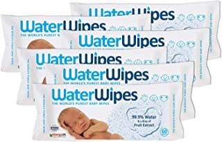WaterWipes Mega Value Box Baby Wipes - Pack of 6 Pouches x 60 Sheets, 360 Wipes