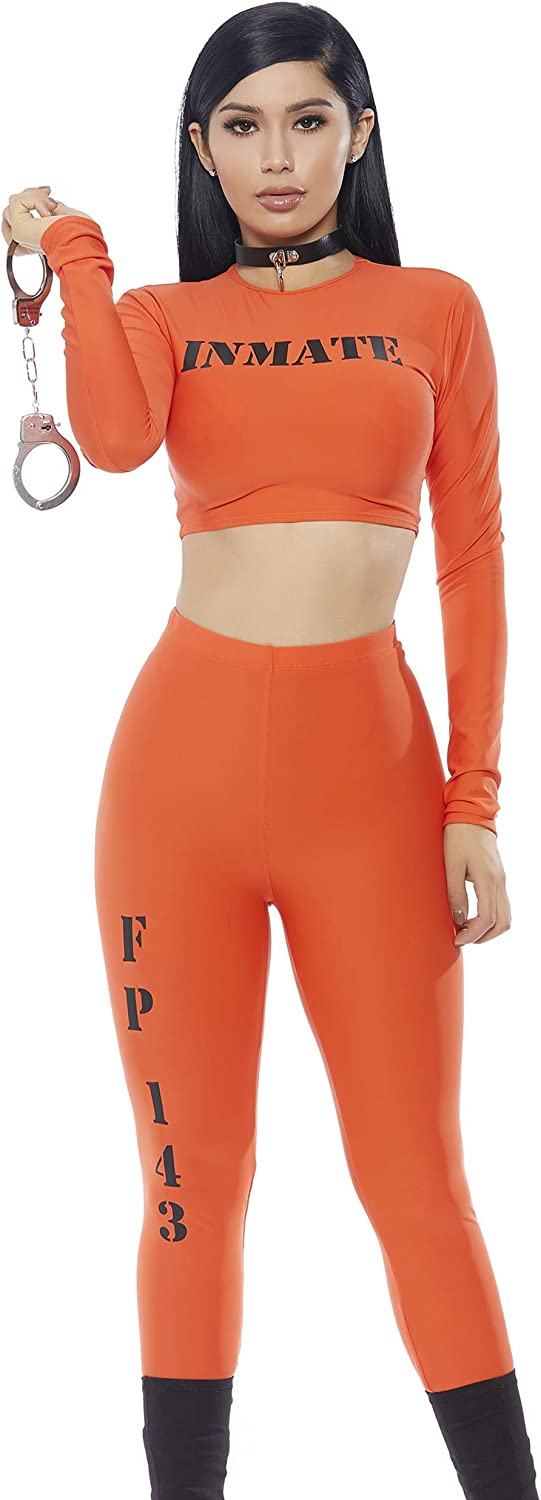 Forplay womens Cuff Me Up' Inmate 2pc. Costume Set