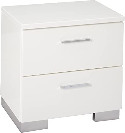 featured product Felicity 2-drawer Nightstand Glossy White
