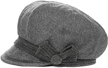 MEIZOKEN Women Newsboy Cap Cabbie Painter Bowknot Visor Beret Warm Hat Casquette Gavroche