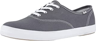 Keds Women's Champion Original Canvas Lace-Up Sneaker, Graphite, 7 W US