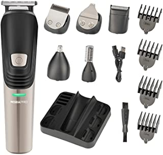 Beard Trimmer 6 in 1 Hair Clipper Electric Trimmer Shaver and Nose Trimmer Electric Razor Professional Grooming Kit