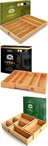 lowest Bamboo Storage Set - Drawer Organizers for popular Silverware and sale Utensils and Storage Boxes online sale