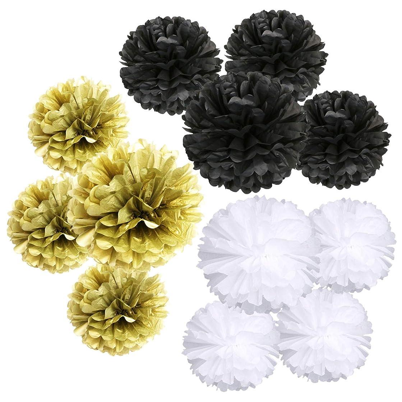 Landisun Party Tissue Paper Flowers Pom Poms Birthday/Wedding/Baby Shower/Bachelorette Decoration Flowers of 10 inches(12pcs).