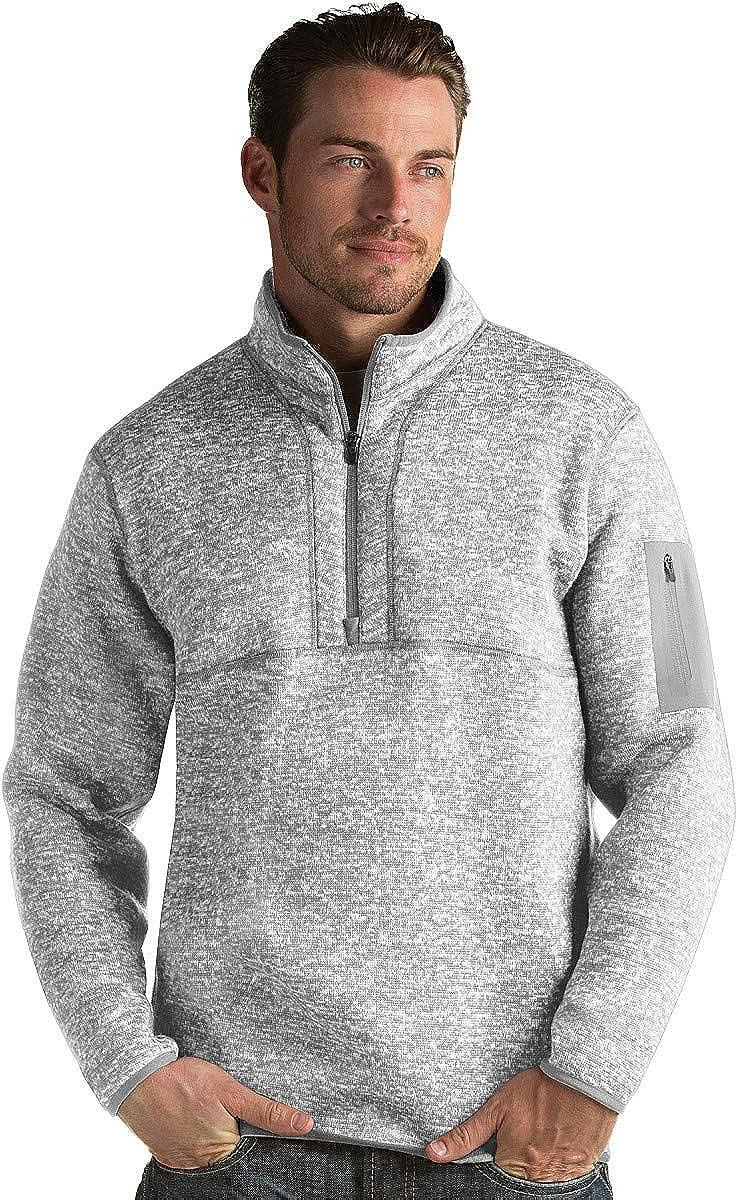 Antigua Men's Fortune 1 4 Fees free Pullover Sweater Brand Cheap Sale Venue Zip Knit