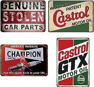 Vintage en métal étain signes Plaque d'huile moteur maison Bar Pub Garage Station-service plaques de fer décoratives autoc...