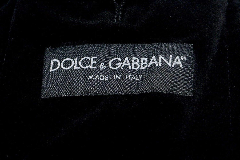 Dolce & Gabbana Men's Wool Two Button Blazer Sport Coat US 44 IT 54 Black