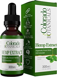Hemp Oil Extract 300mg – Hemp Oil for Pain, Stress Relief, Mood Support, Improve Sleep, Skin Care, Depression (300mg, 10mg per Serving x 30 Servings) – Rich in Omega 3, 6, 9 Fatty Acids
