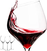 d e v a s o Red Wine Glass Set|Angled wine glass|Large Wine Glasses For Red Wine|Lead Free Crystal Wine Glass In White And...