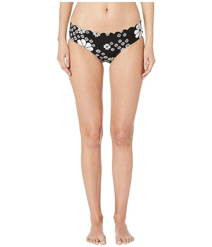 Kate Spade New York Scalloped Hipster Bikini Bottoms (Black) Women