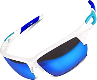 Polarized Sports Sunglasses for Men & Women,Ultra tough & lightweight frame with UV400 HD lens