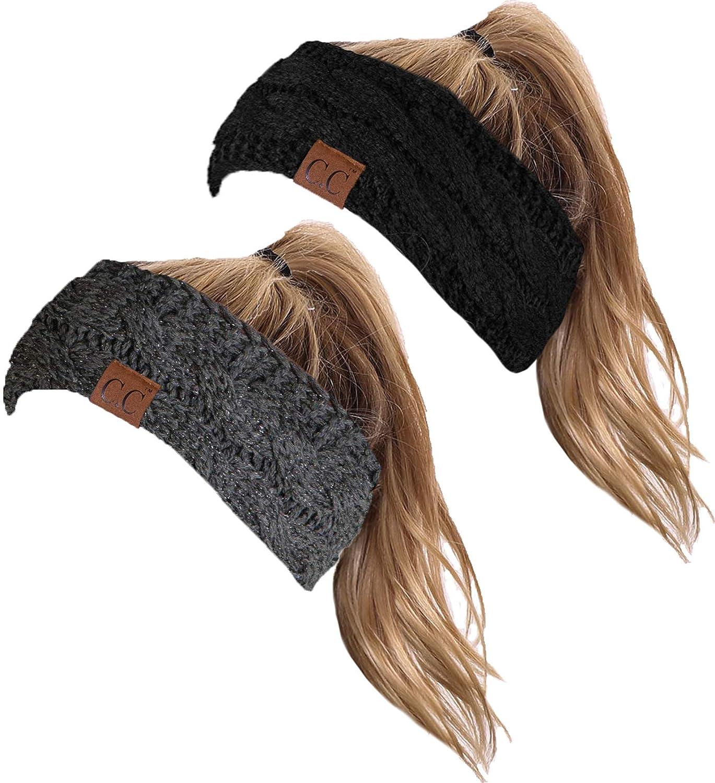 HW-6033-2-20a-069021 Headwrap Bundle - Black & Metallic Grey (2 Pack)