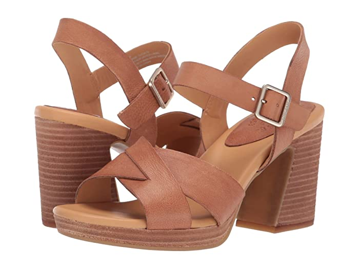 70s Shoes, Platforms, Boots, Heels Kork-Ease Kristjana Brown Full Grain Leather Womens Dress Sandals $149.95 AT vintagedancer.com