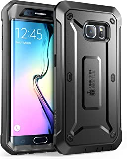 SUPCASE [Unicorn Beetle PRO Series] Case for Galaxy S6 Edge (2015 Release), Full-Body Rugged Hybrid Protective Cover with Out Screen Protector (Black)