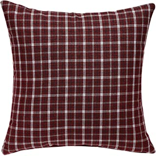 uxcell Buffalo Check Plaid Throw Pillow Covers Cotton Linen Classic Retro Farmhouse Square Cushion Cases for Sofa Bedroom Car 18 x 18 Inch,#17
