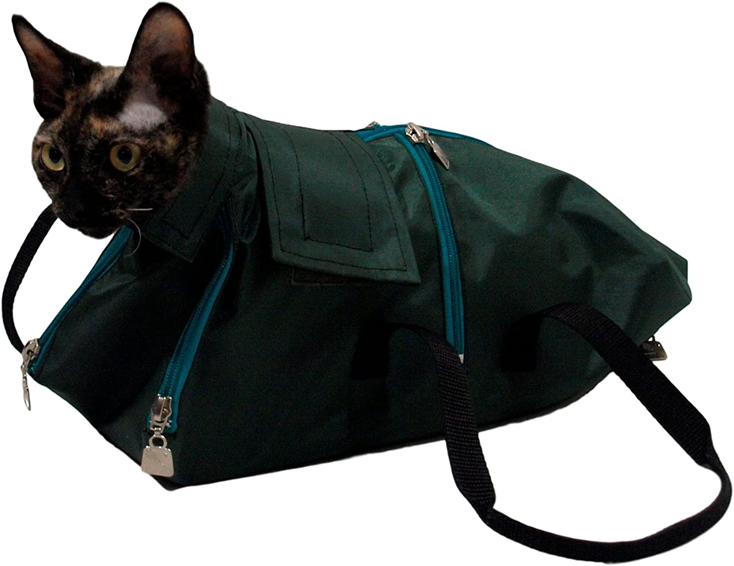 Premium Cat Restraint Bag, Cat Grooming Bag, Cat Carrier Bag. Made in Europe Using The Highest Quality Fabrics. (Medium)