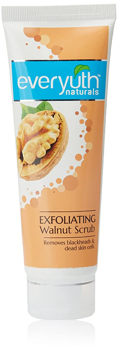 遅滞揃える省Everyuth Naturals Exfoliating Walnut Scrub, 100g