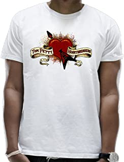 Tom Petty Sleeve Pocket and The Heartbreakers Man's Short Sleeves T-Shirts