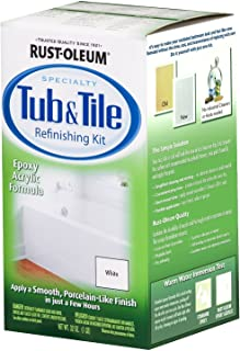 Rust-Oleum 7860519 Tub and Tile Refinishing 2-Part Kit, White 2 Pack