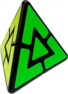 Aŭtuno Cubes, a pyraminx Duo Cube, The Solid core Structure, Triangle Puzzles, Puzzles (Four Bright Color with Black Body)