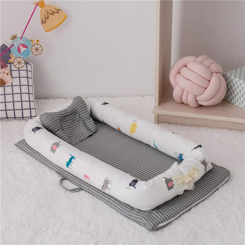 WUQIANG Nid Bébé Bébé bionique lit Amovible et Lavable bébé lit bébé Portable bébé Berceau Pliable dormeur bébé nid for bébé Nouveau-né Pare-Chocs (Color : Gray) Gray1