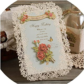 Greeting Card,Vintage Birthday Cards Cut Greeting Cards Lace Exquisite Happy Birthday Cards,Wish 1605 Ii 05