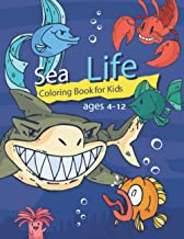 sea life coloring book for kids ages 4-12