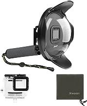 SHOOT Official 4.0 Lens Hood Dome Port for GoPro HERO7 Black/HERO6/HERO5/HERO2018 - Waterproof Case,Floating Grip for Underwater Photography Snorkeling Scuba Diving Accessories