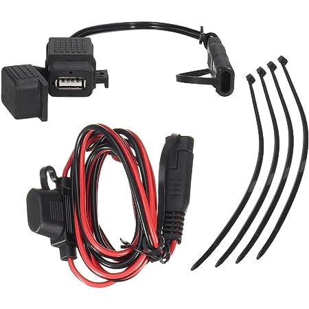 Wasserdicht Sae Auf Usb 2 1 A Kabel Adapter Und Usb Als Ladegerät Set Mit Inline Sicherung Für Motorrad Auto