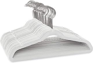 """Casafield - 50 Ivory Velvet 14"""" Non-Slip Kids Hangers - Space Saving & Chrome Swivel Hook for Children's Clothes, Coats, P..."""