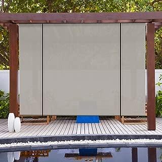Patio Paradise Roll up Shades Roller Shade 8'Wx8'H Outdoor Shade Blind Pull Shade Privacy Screen Porch Deck Balcony Pergola Trellis Carport Grey
