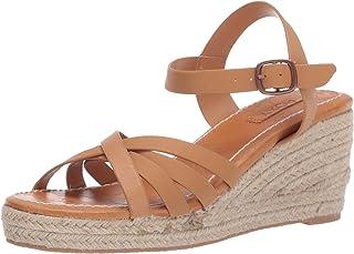 Roxy Eleanor Leather Wedge Sandals womens Espadrille Wedge Sandal