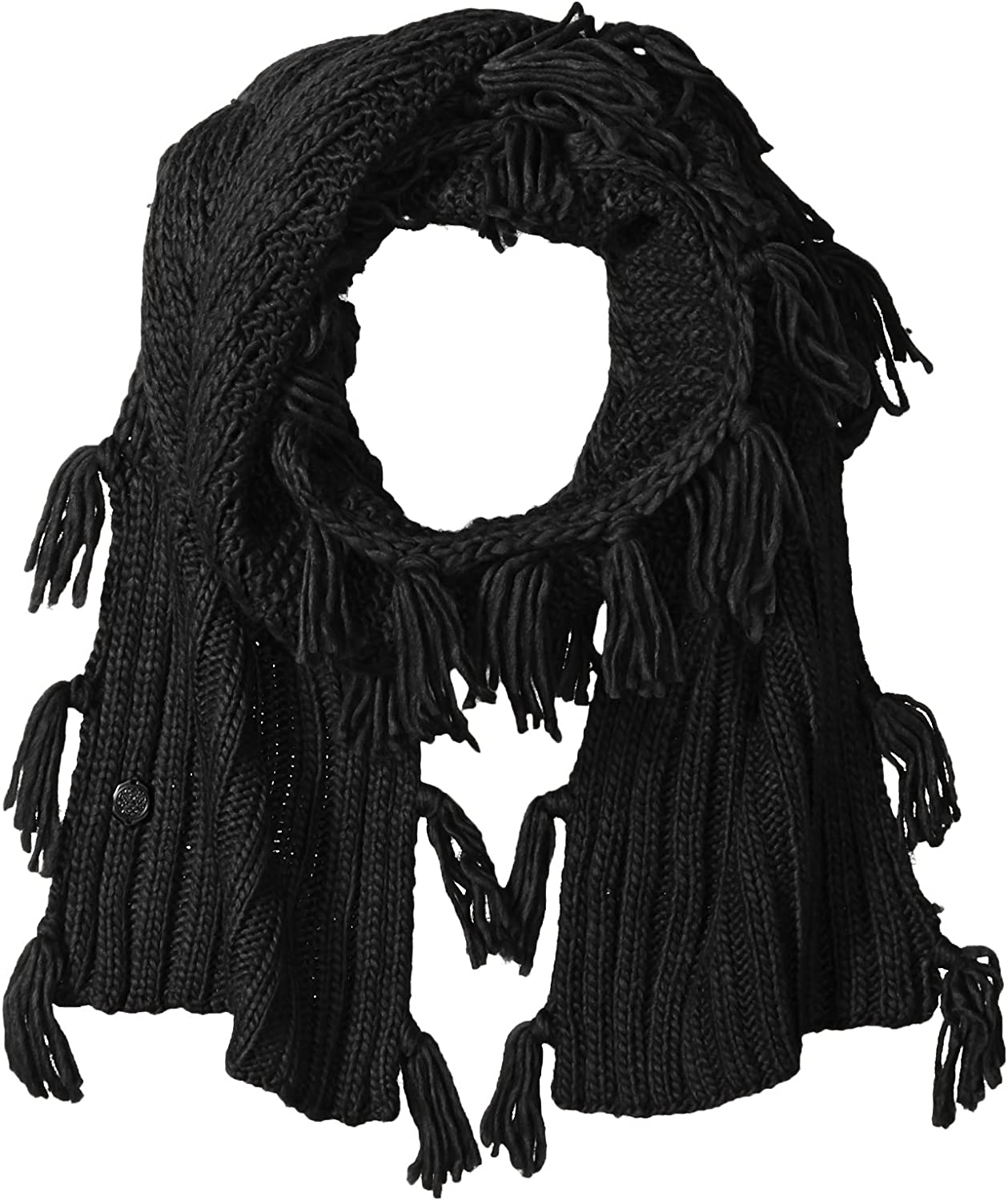 Vince Camuto Women's Geometric Stitch Scarf with Side Tassels and Studs