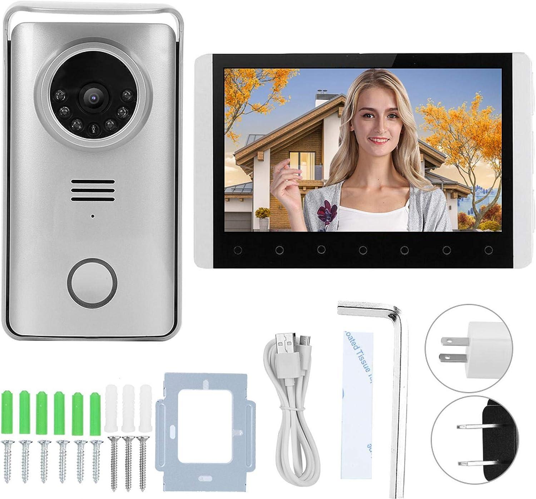Wireless Popular overseas Door Bell 7 inch LCD Call Unloc Intercom H 24 Cheap mail order shopping Display