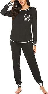 Ekouaer Pajamas Women�s Long Sleeve Sleepwear with Long Pants Soft Loungewear Pj Set S-XXL