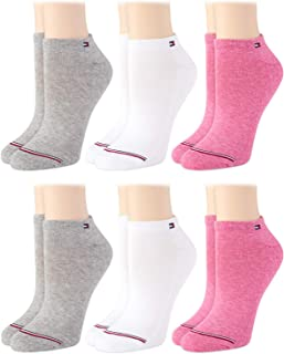 Womens' Socks - Cushioned Above Ankle Mini-Crew Socks (6 Pack), Size Shoe Size: 6-9.5, Assortment
