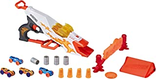 Nerf Doubleclutch Inferno Nitro Toy Includes Blaster, 4 Foam Body Cars, Double Reactive Target, Double Ramp, & 8 Obstacles...