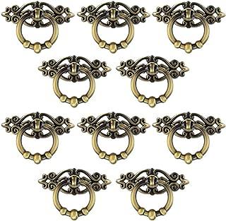 Jmkcoz 10 Pack Cabinet Knob Cupboard Drawer Pull Handle Cabinet Cupboard Dresser Ring Pulls with Screws