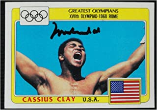 Muhammad Ali 1983 Topps Signed Auto USA Cassius Clay Olympic Card #92 OA 8419134 - Autographed Boxing Cards