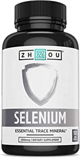 Zhou Selenium 200mcg | for Thyroid, Prostate and Heart Health | Essential Trace Mineral with Superior Absorption | No Yeas...